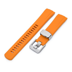Orange Curved End Rubber for Seiko Turtle SRP777