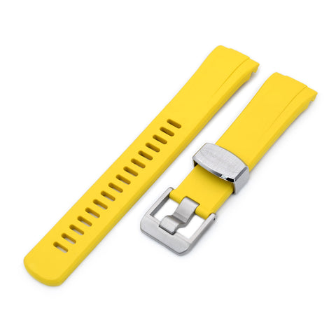 Yellow Curved End Rubber for Seiko Turtle SRP777