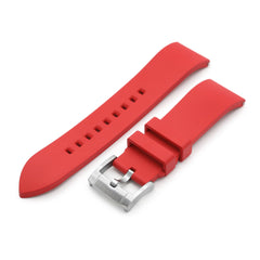 22mm Straight End Red FKM Rubber Quick Release Watch Band | Strapcode