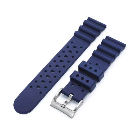 Straight End Blue Diver FKM Rubber Quick Release