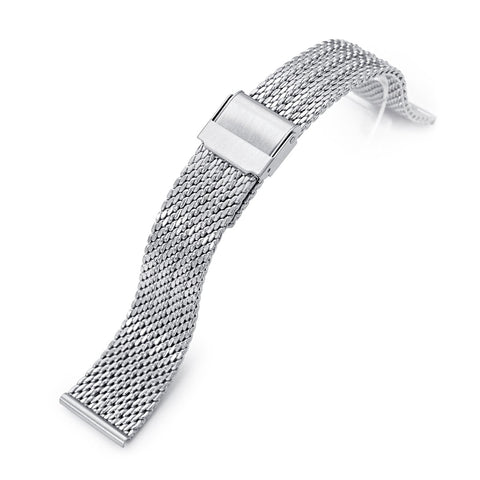 20mm Classic Bony Mesh Band, Brushed