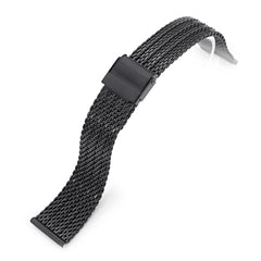 20mm Milanese Bony Wire Mesh Band, PVD Black