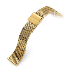 20mm Milanese Bony Wire Mesh Band, Polished IP Gold
