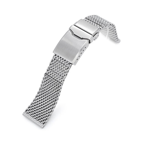 Massy Mesh Band, Button Chamfer, Brushed