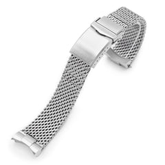 Curved End Massy Mesh Watch Band for TUD BB 79230 V-Clasp Brushed