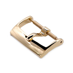 16mm, 18mm Solid 316L Stainless Steel Classic 2mm-Tongue Buckle, IP Gold
