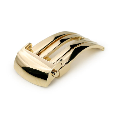 18mm Roller Deployment Buckle, Polished IP Gold