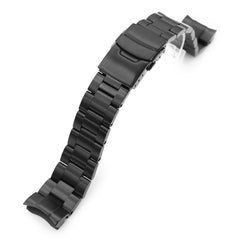 20mm Super-O Boyer 316L Stainless Steel Watch Band for Seiko Sumo SBDC001, Diamond-like Carbon (DLC Black) Diver Clasp Taikonaut Watch Bands