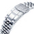 20mm ANGUS Jubilee 316L Stainless Steel Watch Bracelet for Seiko SARB033, Brushed, Submariner Clasp