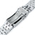20mm ANGUS Jubilee 316L Stainless Steel Watch Bracelet for Seiko Cocktail SSA345, Submariner Clasp