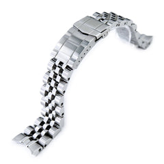20mm ANGUS Jubilee 316L Stainless Steel Watch Bracelet for Seiko SARB035, Brushed, Submariner Clasp
