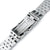 20mm ANGUS Jubilee 316L Stainless Steel Watch Bracelet for Seiko SARB035, Brushed, Wetsuit Ratchet Buckle