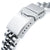20mm ANGUS Jubilee 316L Stainless Steel Watch Bracelet for Seiko Cocktail SSA345, Button Chamfer