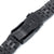 20mm ANGUS Jubilee 316L Stainless Steel Watch Bracelet 20mm Straight End, PVD Black, Button Chamfer