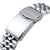 20mm ANGUS Jubilee 316L Stainless Steel Watch Bracelet for Seiko Mini Turtles SRPC35, Brushed, V-Clasp