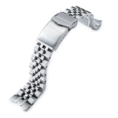 20mm ANGUS Jubilee 316L Stainless Steel Watch Bracelet for Seiko SARB035, Brushed, V-Clasp