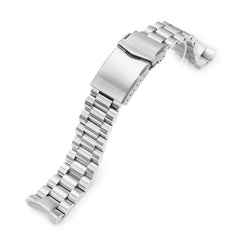 20mm Endmill 316L Stainless Steel Watch Bracelet for Seiko Mini Turtles SRPC35, Brushed V-Clasp Taikonaut Watch Bands