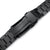 20mm Hexad 316L Stainless Steel Watch Band for Seiko Sumo SBDC001, Diamond-like Carbon (DLC Black) V-Clasp Taikonaut Watch Bands