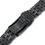 20mm Angus-J Louis JUB 316L Stainless Steel Watch Band for Seiko Sumo SBDC001, Diamond-like Carbon (DLC Black) V-Clasp Taikonaut Watch Bands