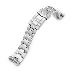 22mm Super-O Boyer 316L Stainless Steel Watch Band for Seiko 5, Brushed SUB Clasp