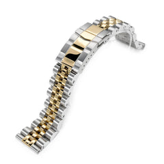 22mm Angus-J Louis Straight End 1.8 Universal Ver., SUB Clasp, Two Tone IP Gold