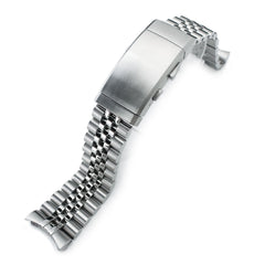 22mm Super 3D Jubilee 316L Stainless Steel Watch Band for Seiko SKX007, Wetsuit Ratchet Buckle