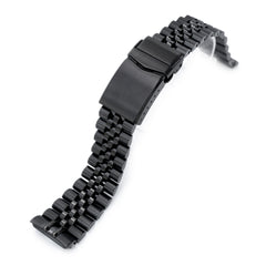Seiko Mod Black Turtles SRPC49 Curved End Jubilee Bracelet | Strapcode