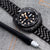 Seiko Mod Black Turtles SRPC49 Curved End J Louis Bracelet | Strapcode