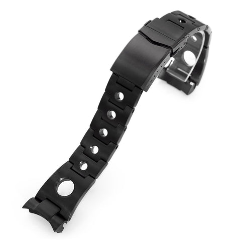 22mm Rollball for Seiko SKX007, V-Clasp, PVD Black