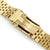 22mm Super-J Louis JUB 316L Stainless Steel Watch Band Straight End, Full IP Gold with Polished Center V-Clasp Taikonaut