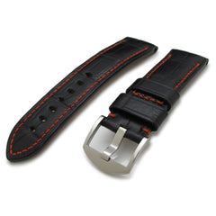 24mm Croco Watch Strap, Red St.