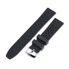 Rhombus Black FKM Quick Release rubber watch strap