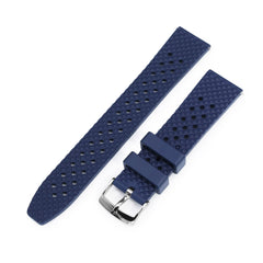 Rhombus Blue FKM Quick Release rubber watch strap