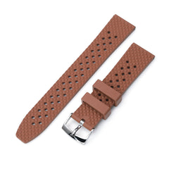 Rhombus Brown FKM Quick Release rubber watch strap