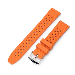 Rhombus Orange FKM Quick Release rubber watch strap