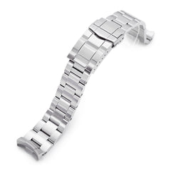 20mm Super-O Boyer 316L Stainless Steel Watch Band for New Seiko 5 40mm, Brushed SUB Clasp