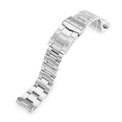 20mm Super-O Boyer 316L Stainless Steel Watch Band for Seiko SPB143 63Mas 40.5mm, Brushed SUB Clasp