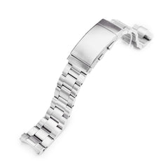 20mm Super-O Boyer 316L Stainless Steel Watch Band for Seiko SPB143 63Mas 40.5mm, Brushed Wetsuit Ratchet Buckle