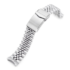 20mm Super-J Louis 316L Stainless Steel Watch Band for New Seiko 5 40mm, Brushed V-Clasp