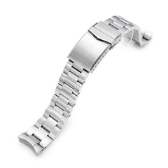 20mm Super-O Boyer 316L Stainless Steel Watch Band for New Seiko 5 40mm, Brushed V-Clasp