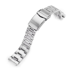 20mm Super-O Boyer 316L Stainless Steel Watch Band for Seiko SPB143 63Mas 40.5mm, Brushed V-Clasp