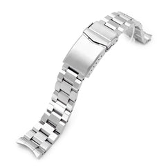 20mm Hexad II 316L Stainless Steel Watch Band for Omega Seamaster 41mm, Brushed V-Clasp