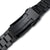 20mm Endmill 316L Stainless Steel Watch Band for Seiko Black Sumo SPB125J1, Diamond-like Carbon (DLC coating) V-Clasp