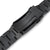 22mm Retro Razor 316L Stainless Steel Watch Band for Seiko SKX007, PVD Black V-Clasp