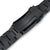22mm Super-O Boyer 316L Stainless Steel Watch Band for Seiko new Turtles SRPC49, Diamond-like Carbon (DLC coating) V-Clasp
