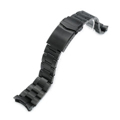 22mm Super-O Boyer 316L Stainless Steel Watch Band for Seiko 5 SRPD79K1, Diamond-like Carbon (DLC coating) V-Clasp