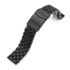 22mm Super Engineer I 316L Stainless Steel Watch Band Straight End, Diamond-like Carbon (DLC coating) V-Clasp
