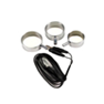 Unipolar Set of 3 Cockrings on 2.5mm Plug