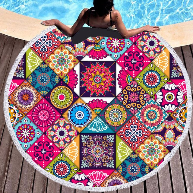 New Horizons Round Towel - Mango Beach Towels and Accessories