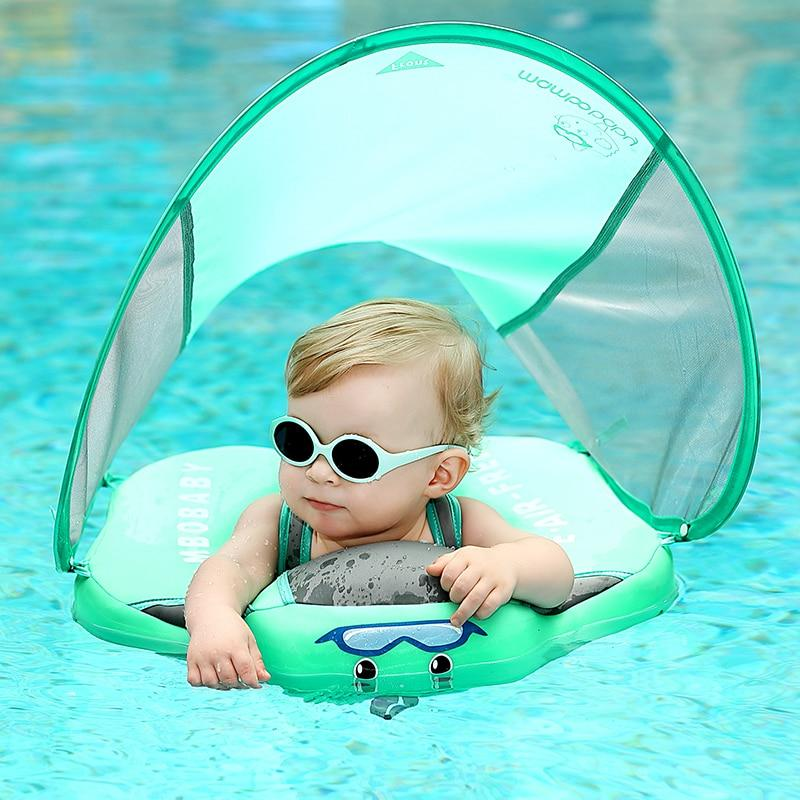Mambo Baby Swim Ring Float With UV Protection Canopy - Mango Beach Towels and Accessories